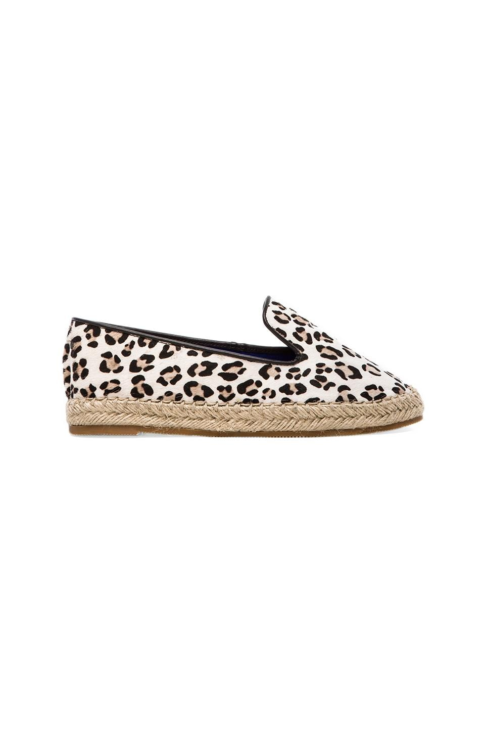 Jeffrey Campbell Abides-F Flat with Calf Fur en Black & White Cheetah