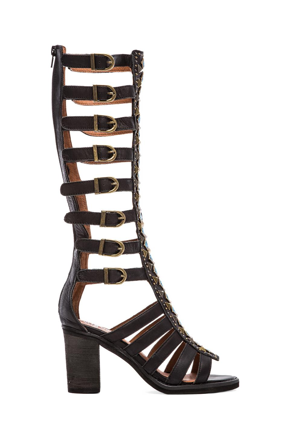 Jeffrey Campbell Badu Embellished Gladiator Sandal in Black