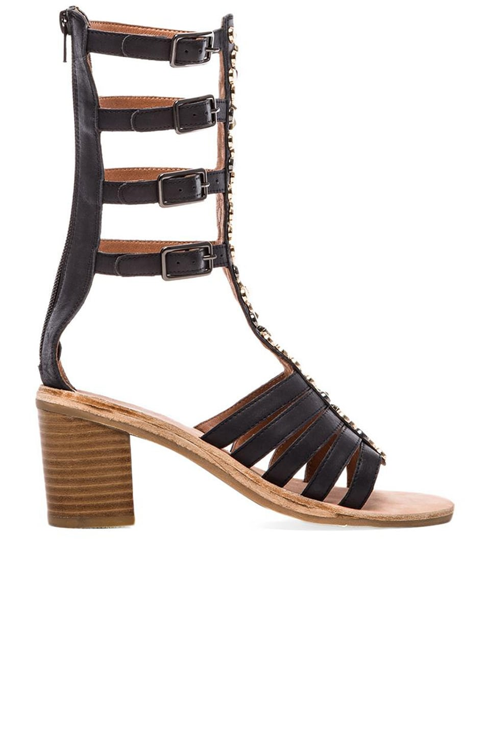 Jeffrey Campbell Klamath Embellished Sandal in Black