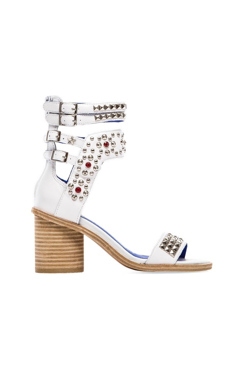 Jeffrey Campbell Tamaya Embellished Sandal in White & Silver