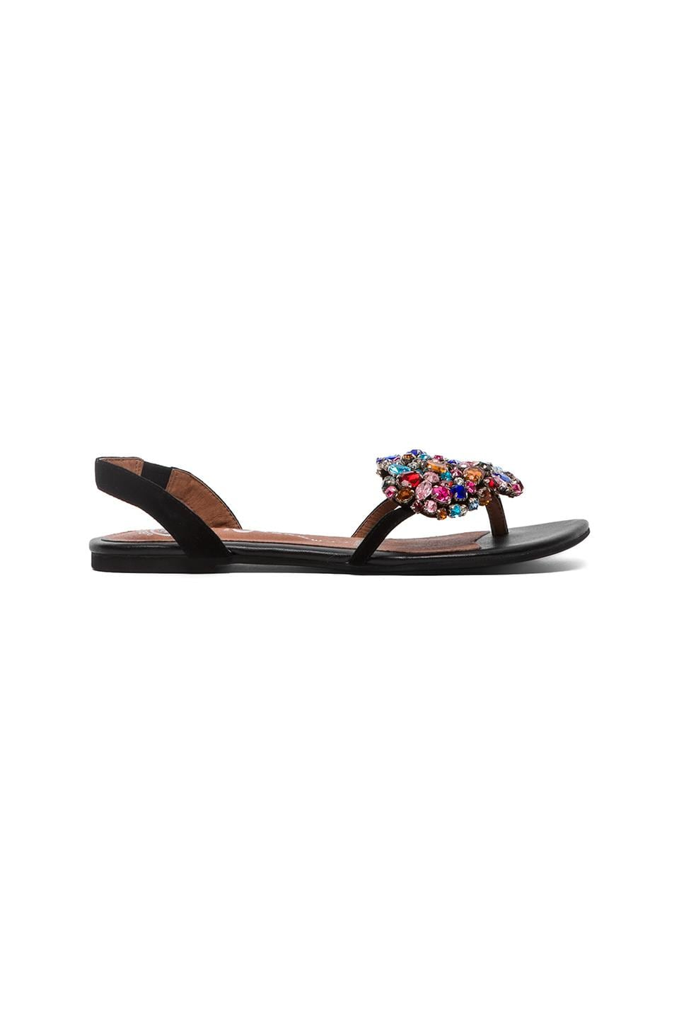 Jeffrey Campbell Coeur Embellished Sandal in Black Suede