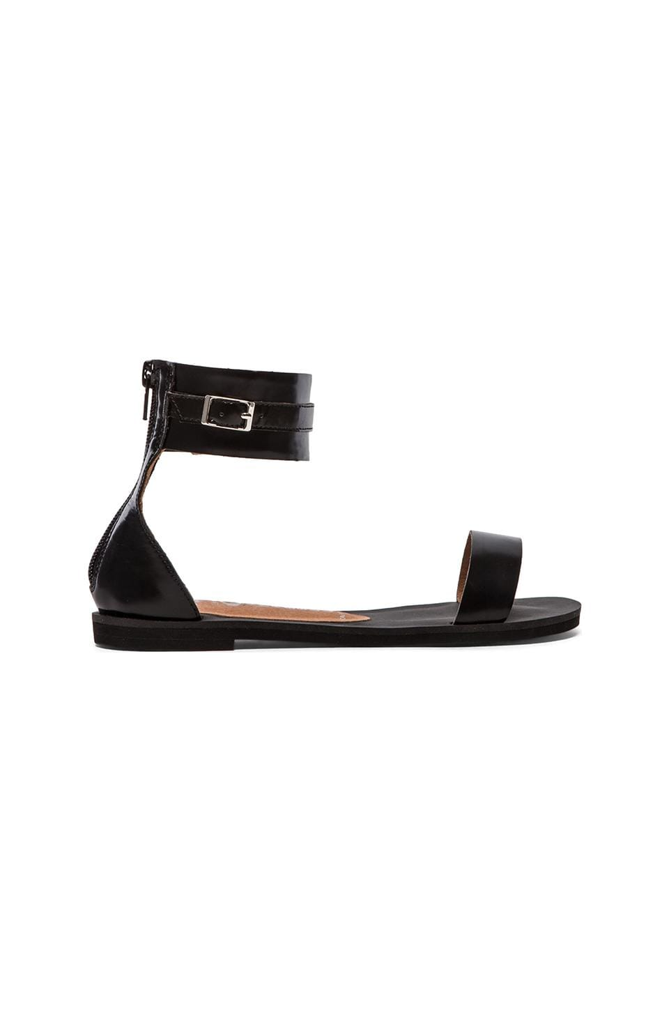 Jeffrey Campbell Islip Sandal in Black Box & Black