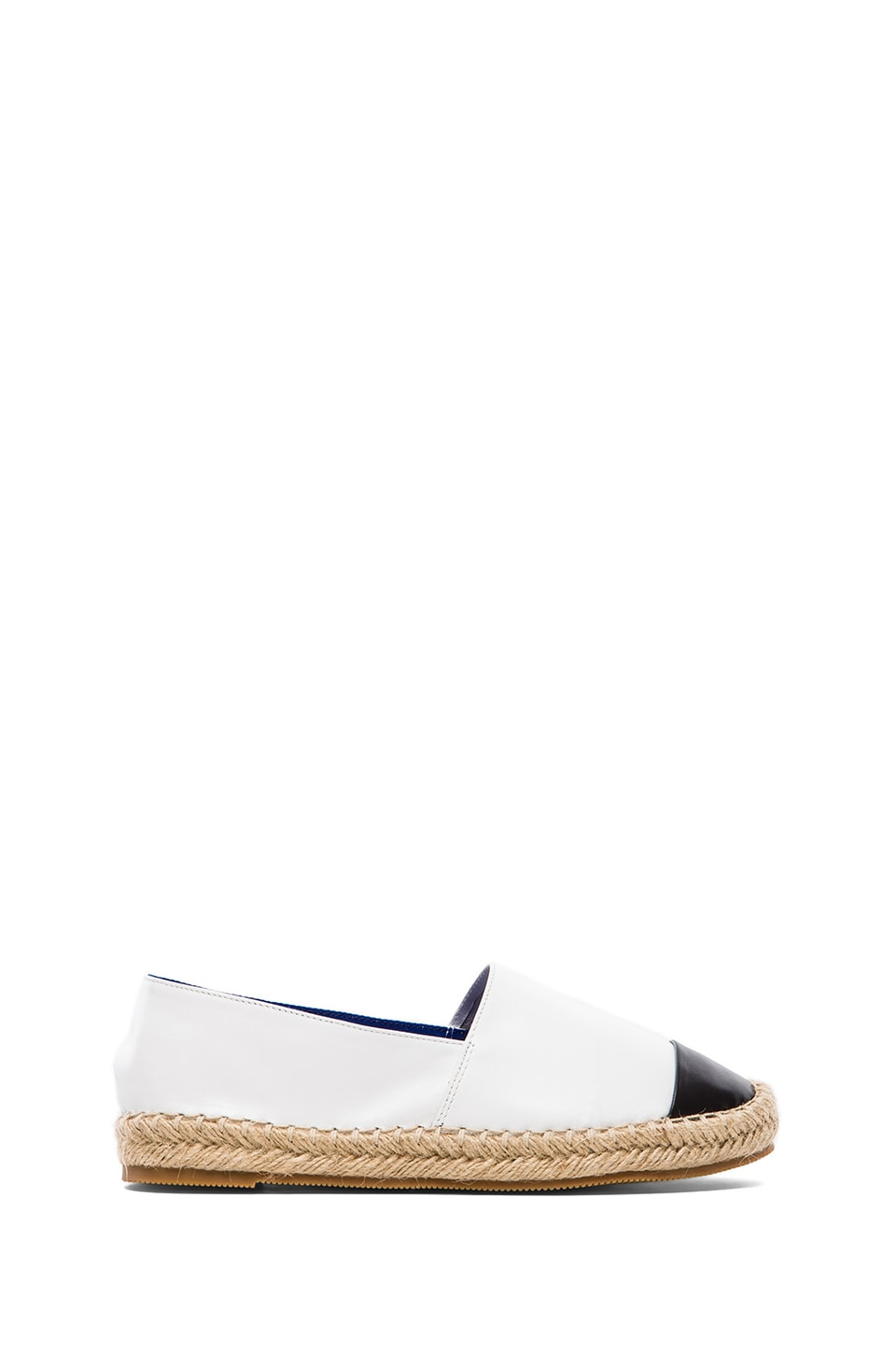 Jeffrey Campbell Atha Loafer in Black & White