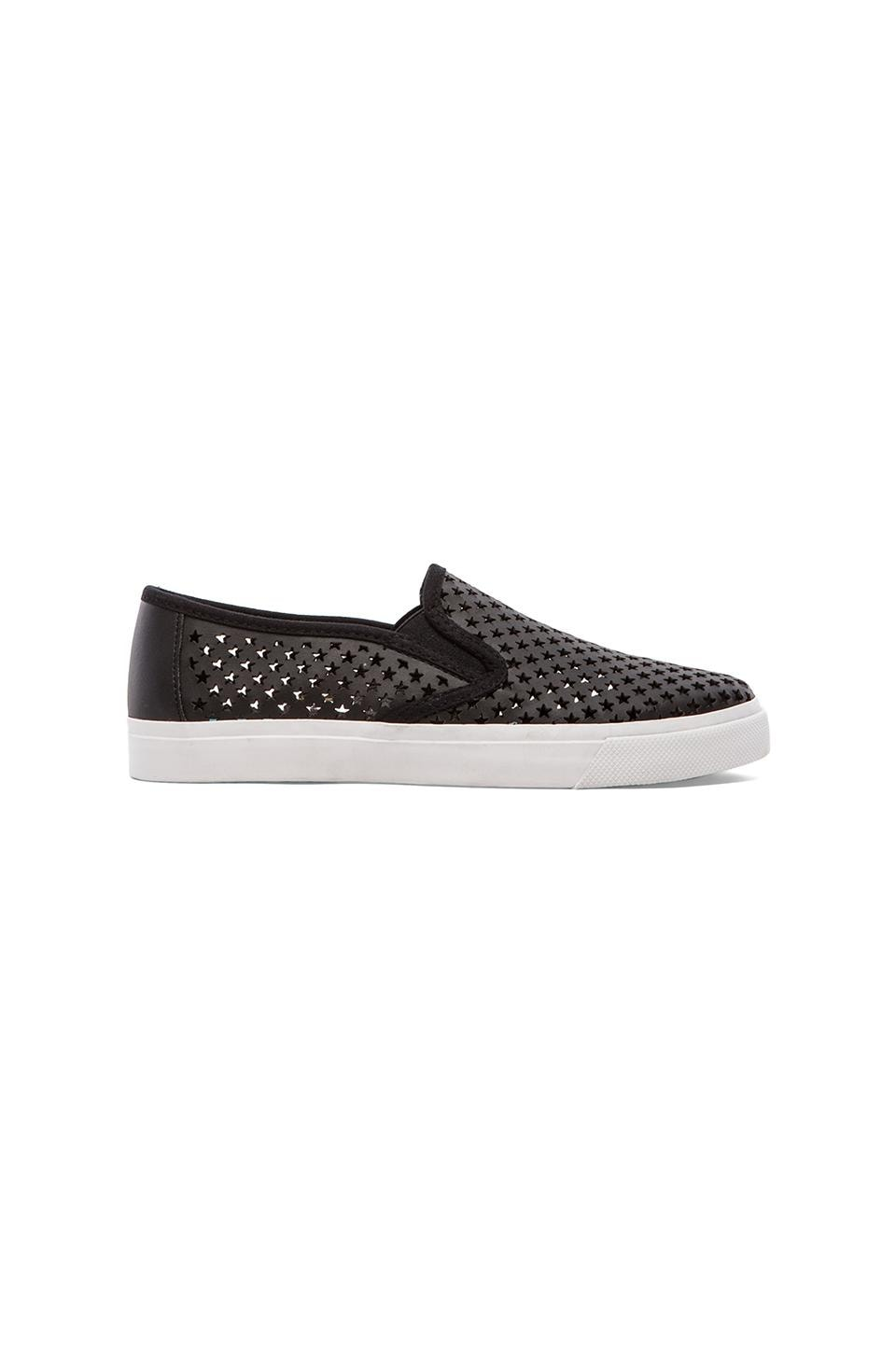 Jeffrey Campbell Ray Star Sneaker in Black Star White