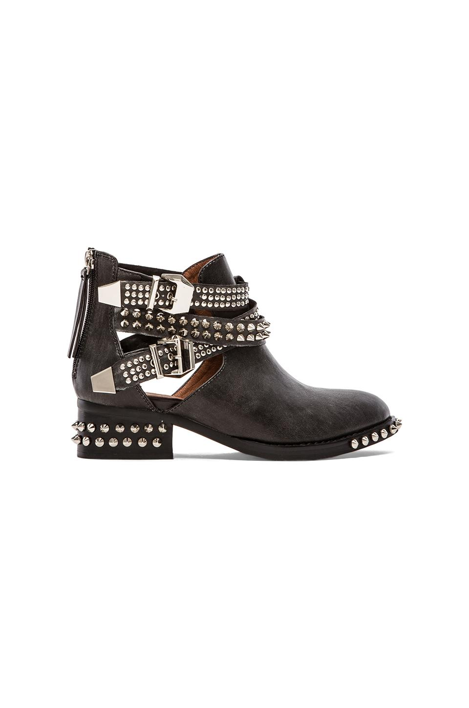 Jeffrey Campbell Everly Embellished Boot in Black Washed