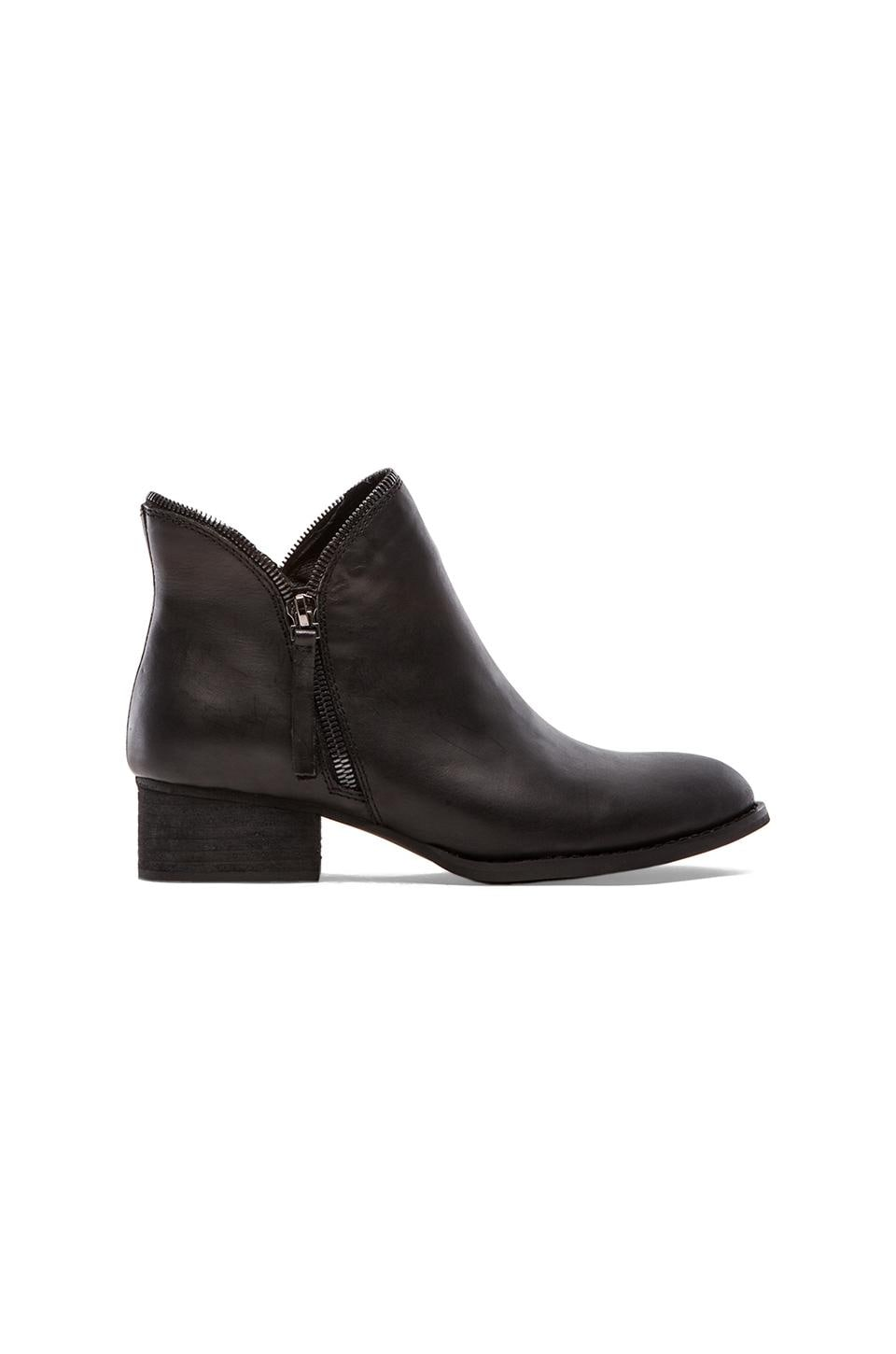 Jeffrey Campbell Crockett Bootie in Black Distressed