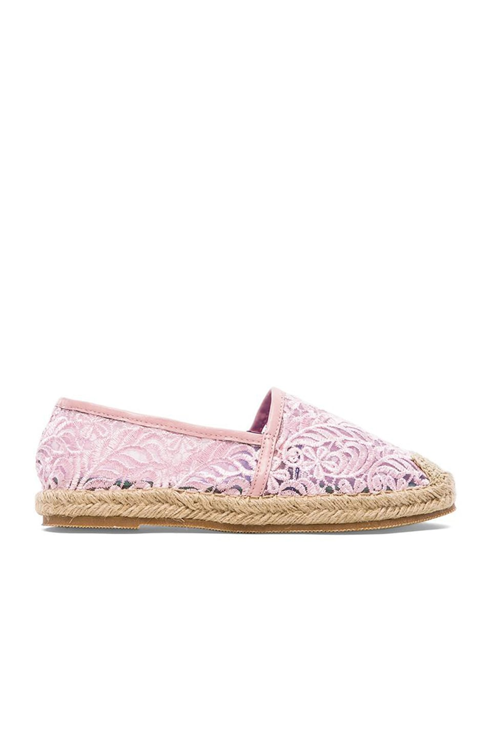 Jeffrey Campbell Nia Flat in Pink Lace