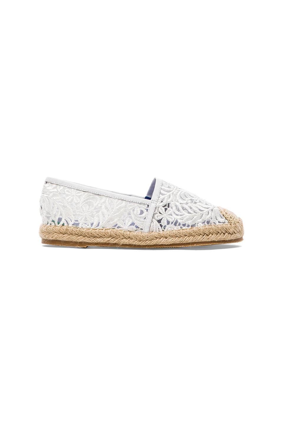 Jeffrey Campbell Nia Flat in White Lace