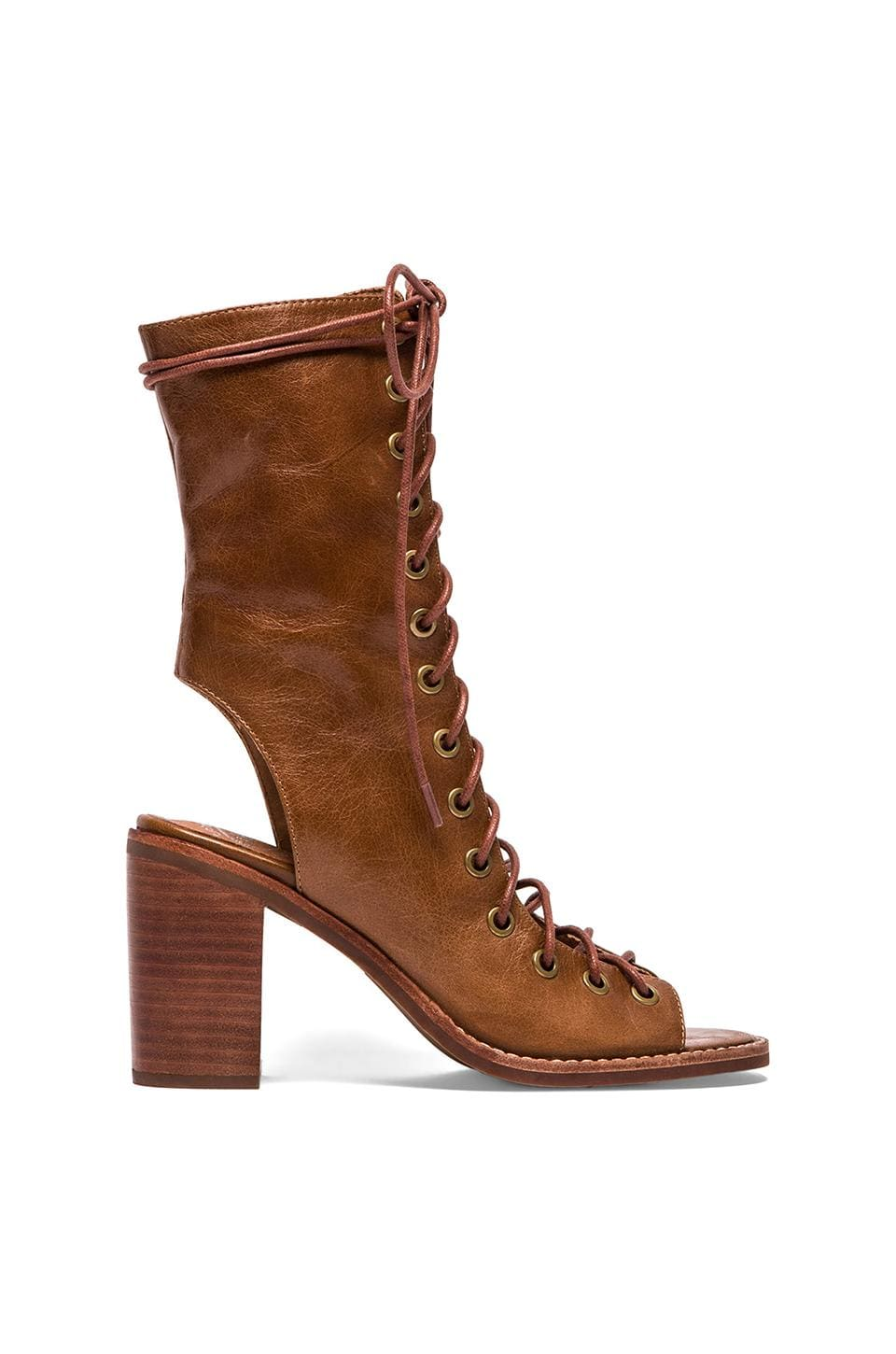 Jeffrey Campbell Contessa Lace-up Boot in Brown