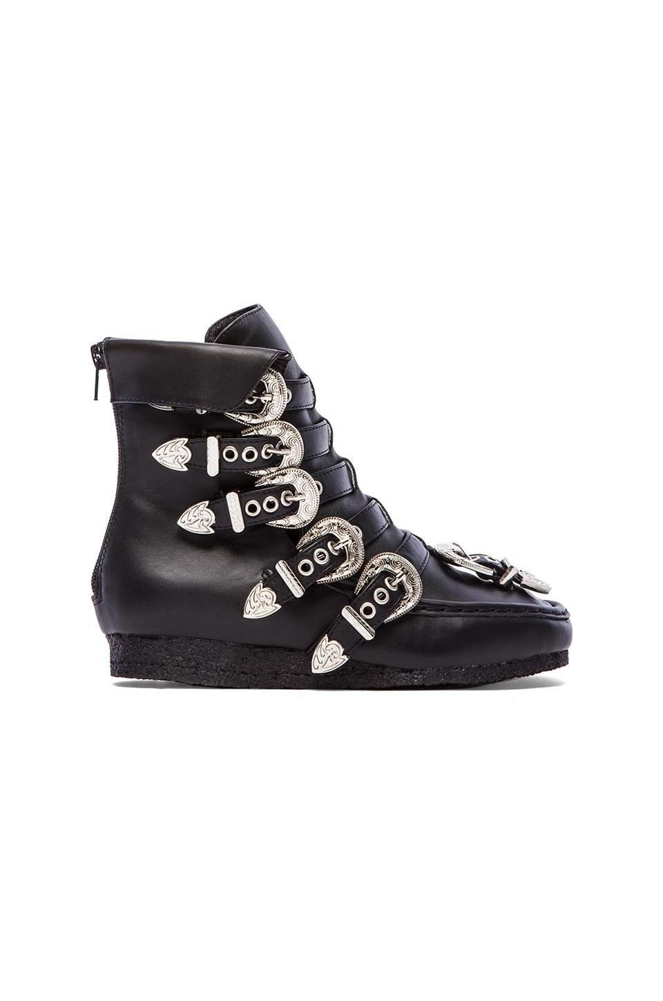 Jeffrey Campbell Mandinko Embellished Sneaker in Black & Silver