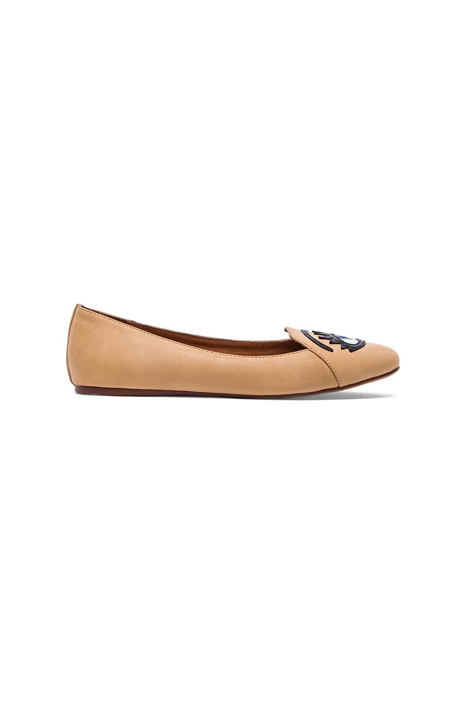 Jeffrey Campbell Hey There Winking Flat in Nude