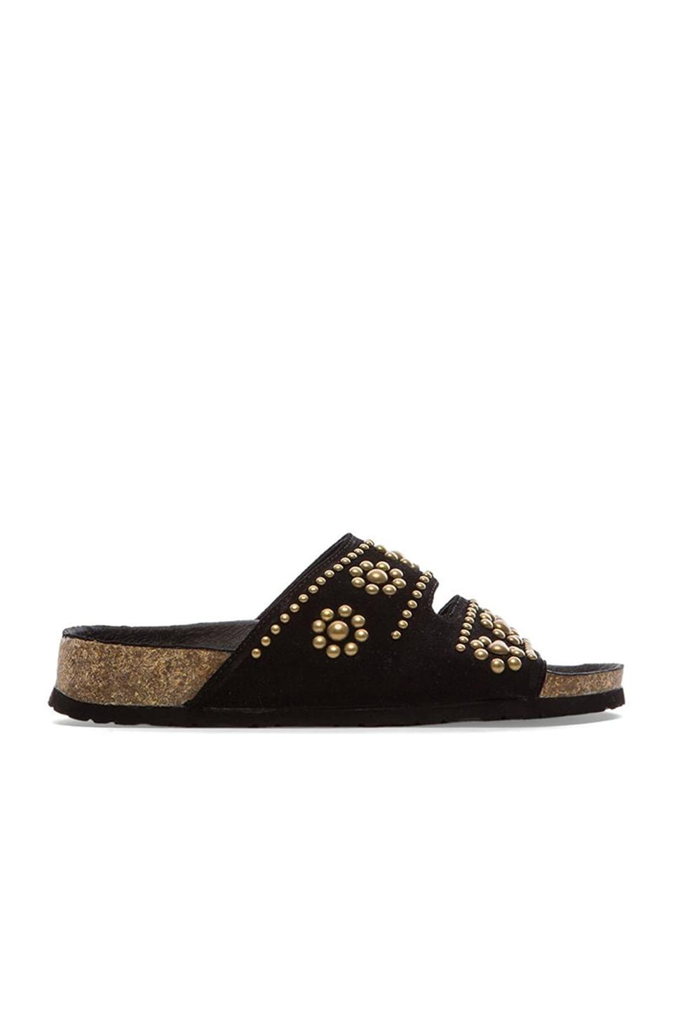 Jeffrey Campbell Lisbon Embellished Sandal in Black & Gold
