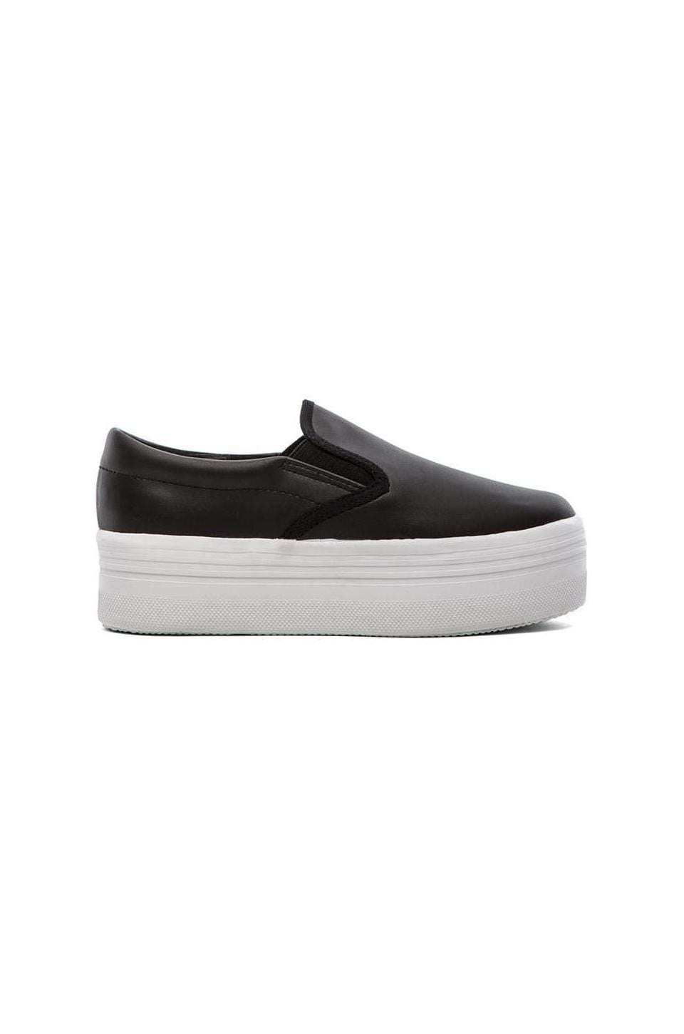 Jeffrey Campbell WTF Platform Sneaker in White & Black