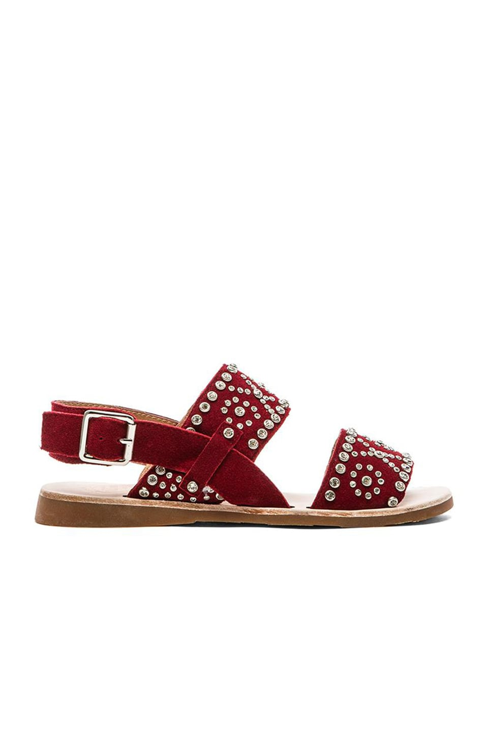 Jeffrey Campbell Patras Xo Sandal in Red Suede
