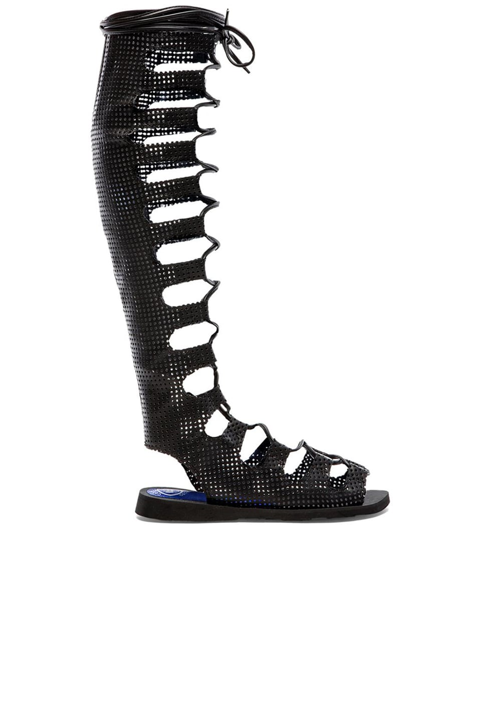 Jeffrey Campbell Olympus Gladiator Sandals in Black Punch