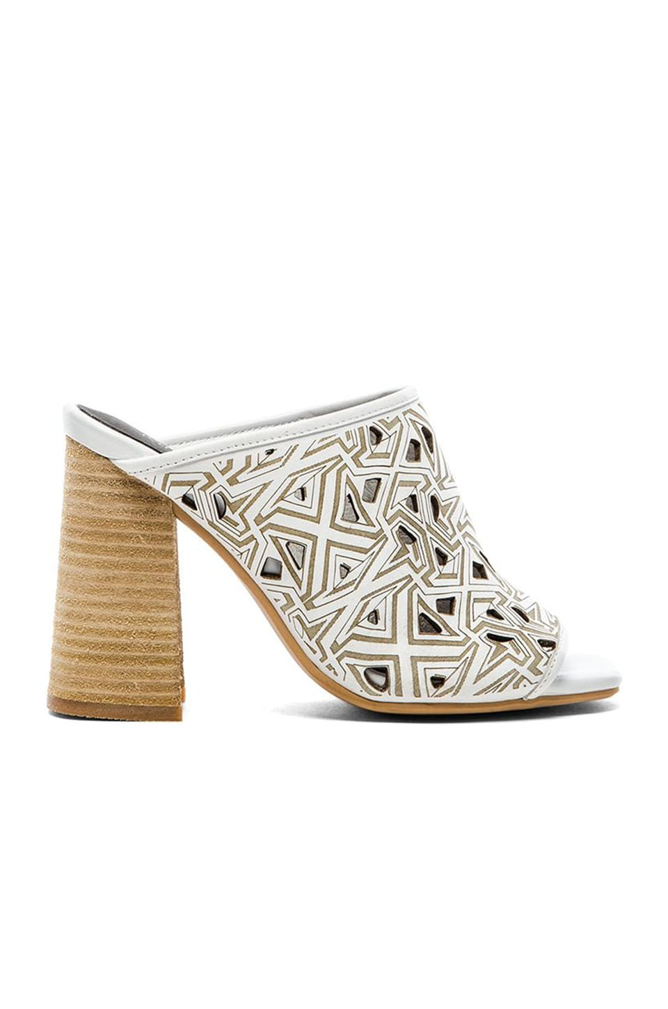Jeffrey Campbell Druid Mule in White Paisley