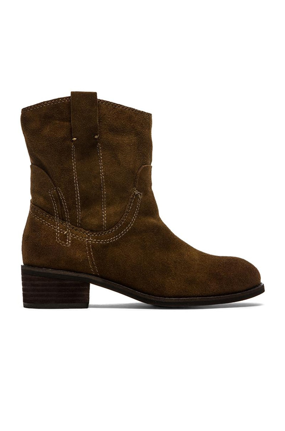 Jeffrey Campbell St. Elmo Bootie in Brown Distressed Suede
