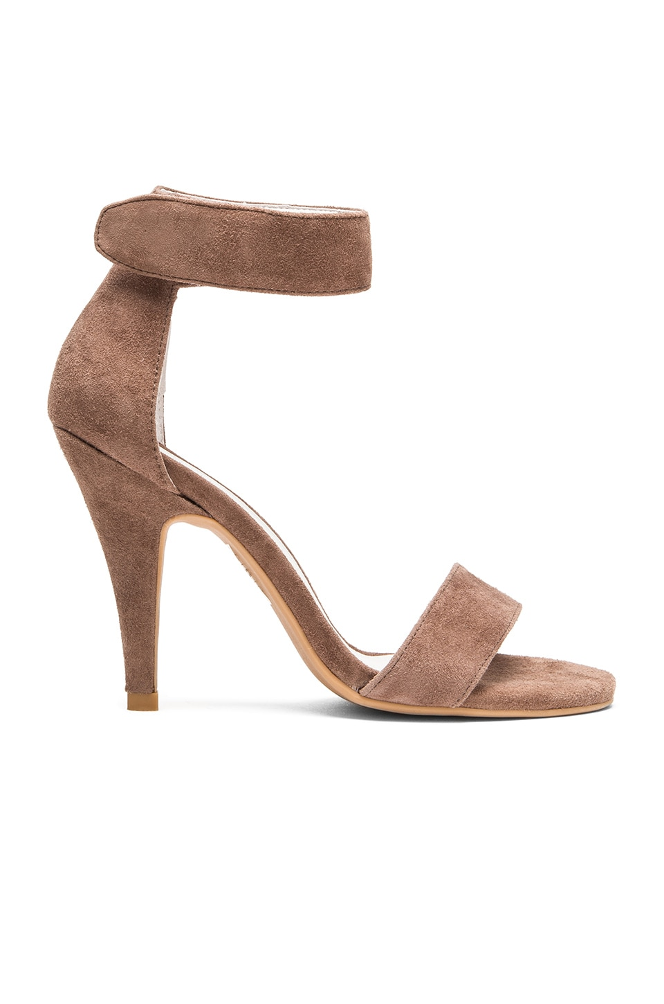 Jeffrey Campbell Hough Heel in Taupe Suede
