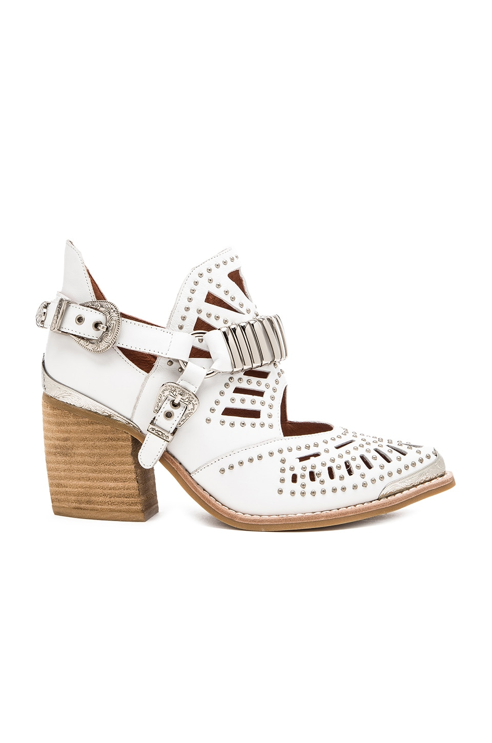 Jeffrey Campbell Calhoun Bootie in White & Silver