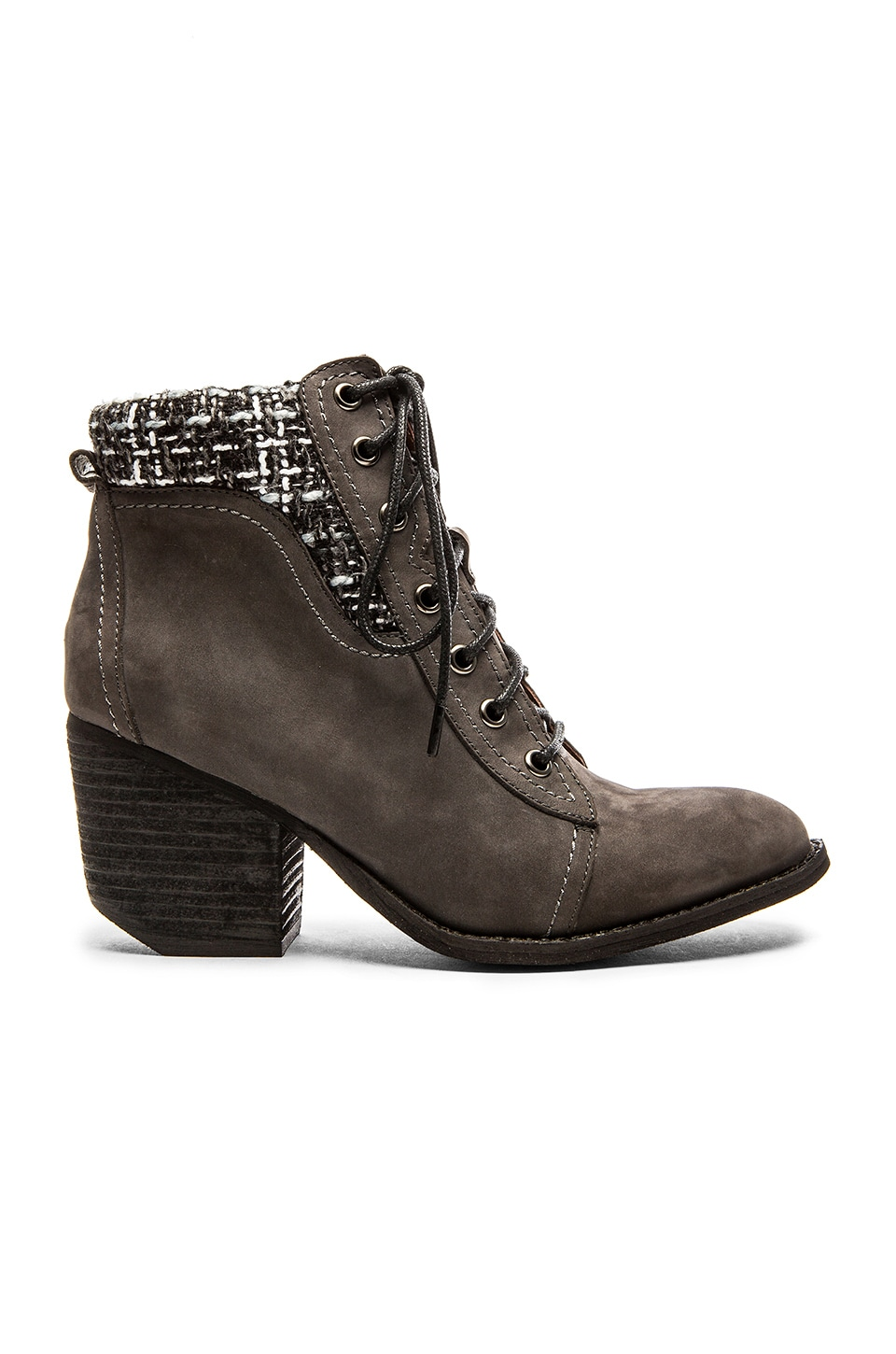 Jeffrey Campbell Tacoma Lace Up Bootie in Grey Combo