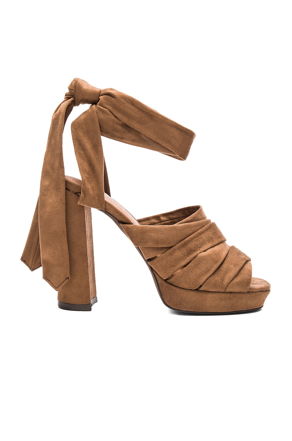 Jeffrey Campbell Chablis Heels in Brown Suede