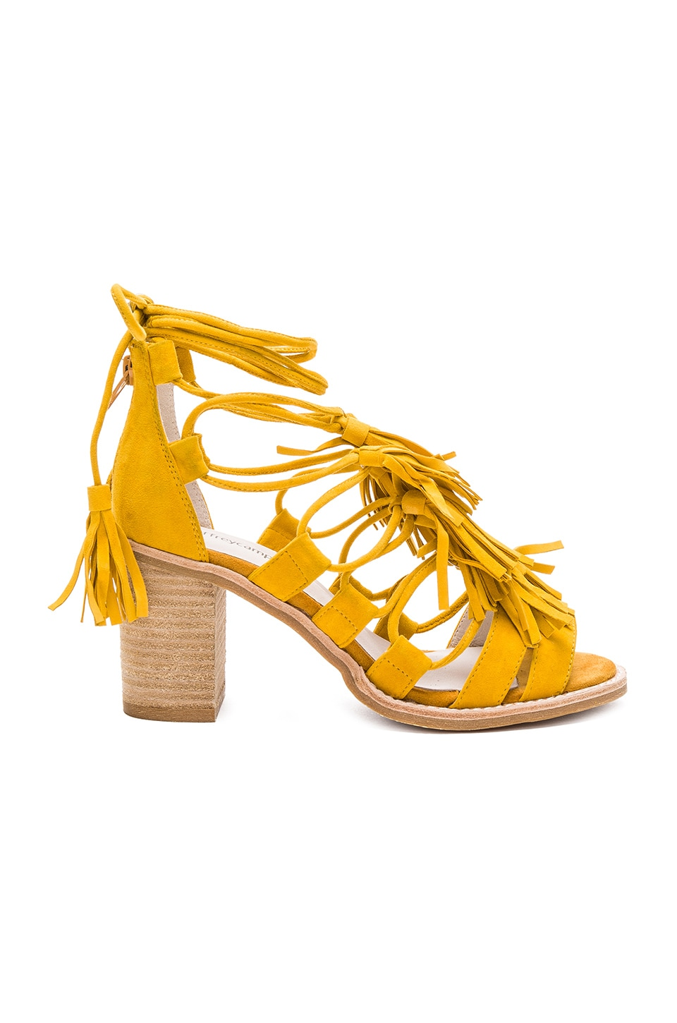 Jeffrey Campbell Linares Sandal in Mustard Suede