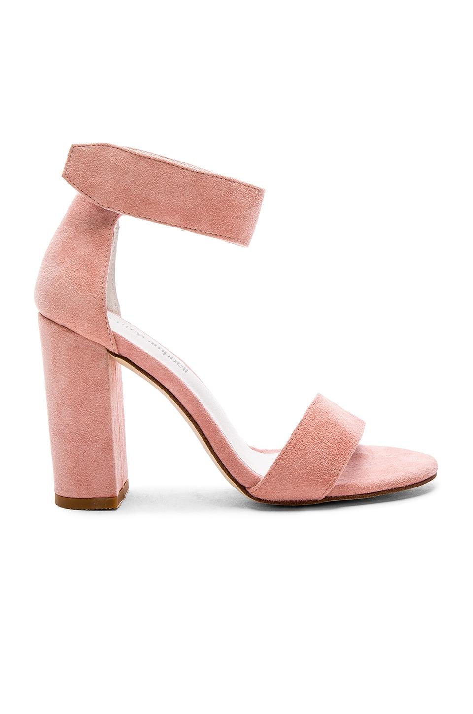 Jeffrey Campbell Lindsay Heels in Light Pink Suede | REVOLVE