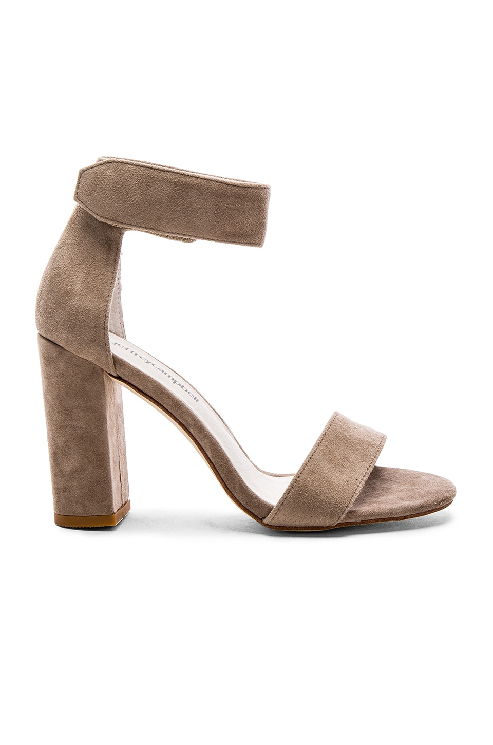 Jeffrey Campbell Lindsay Heels in Taupe Suede