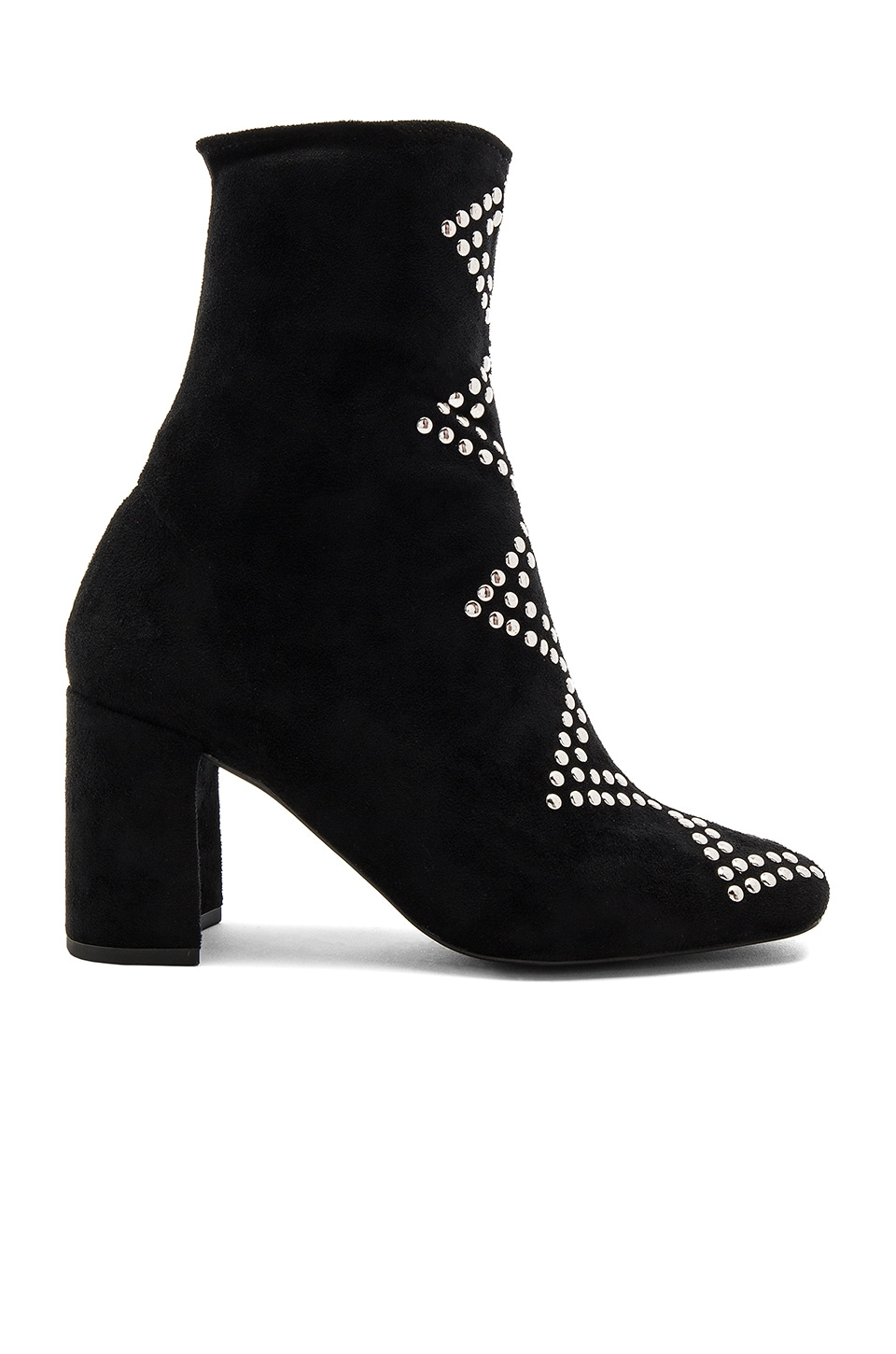 Jeffrey Campbell x REVOLVE Cienega Booties in Black Suede Silver