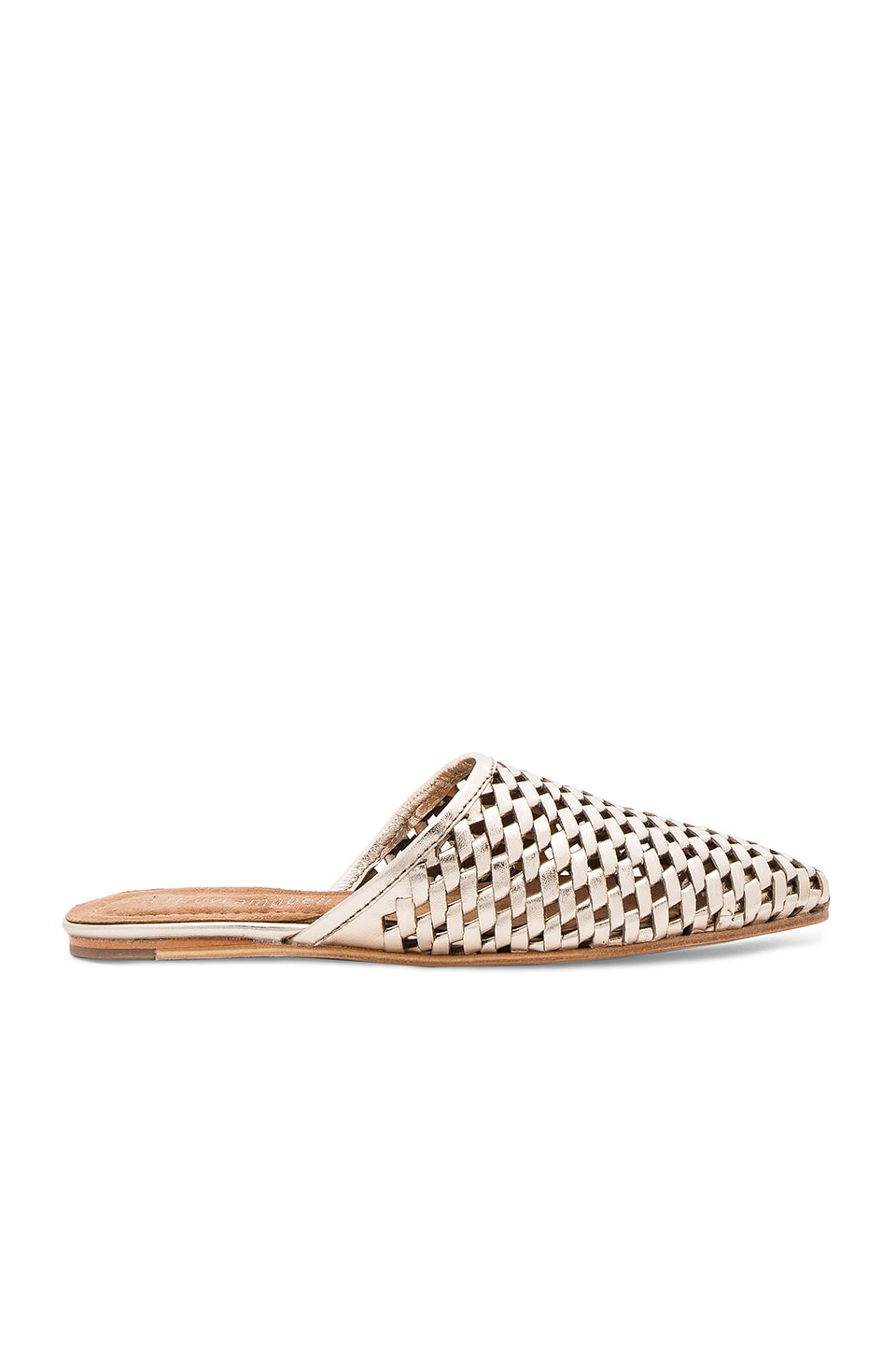 Jeffrey Campbell Doshi Slides in Gold Woven