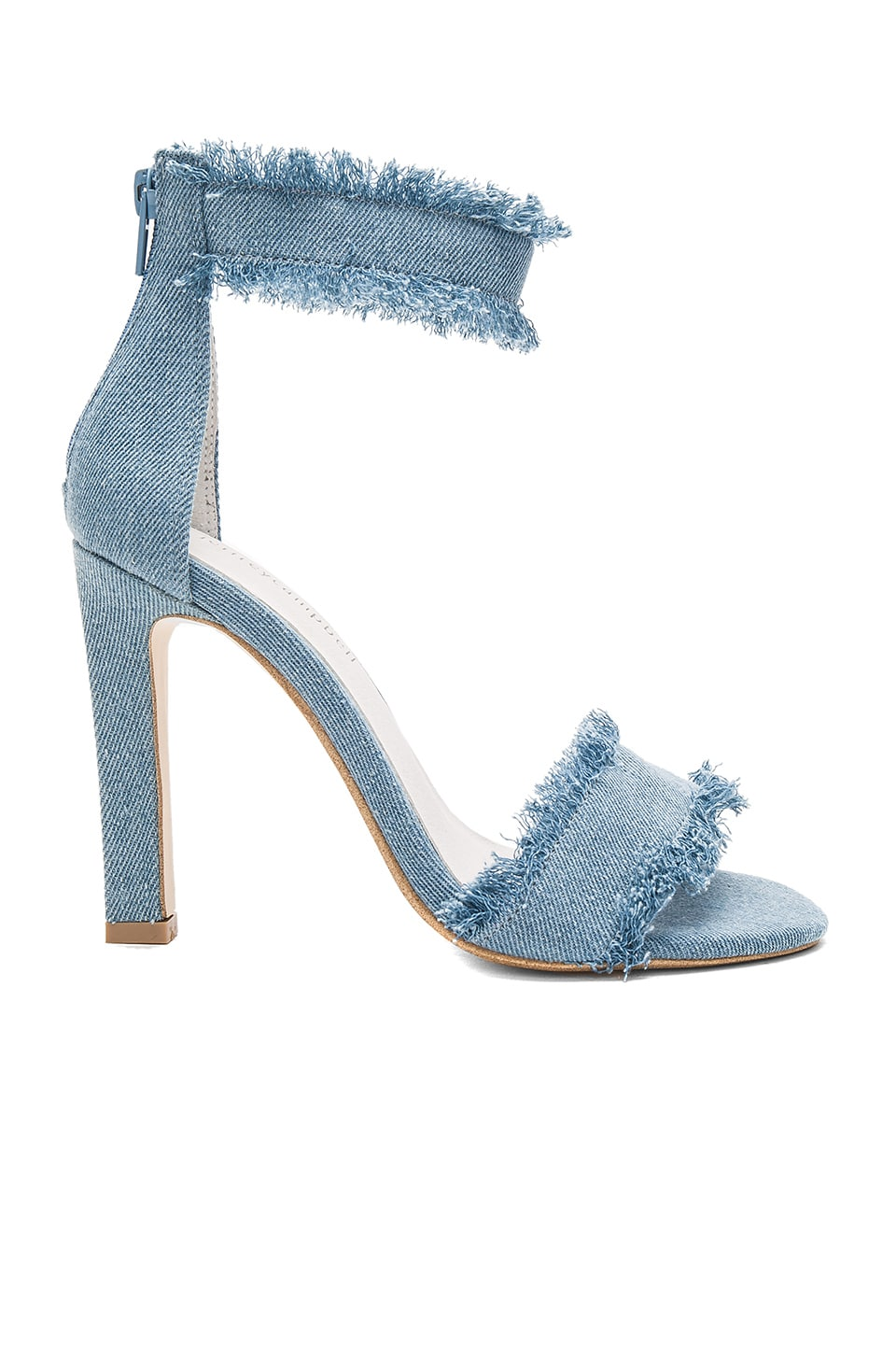 Jeffrey Campbell Inab 2 Heel in Light Blue Denim