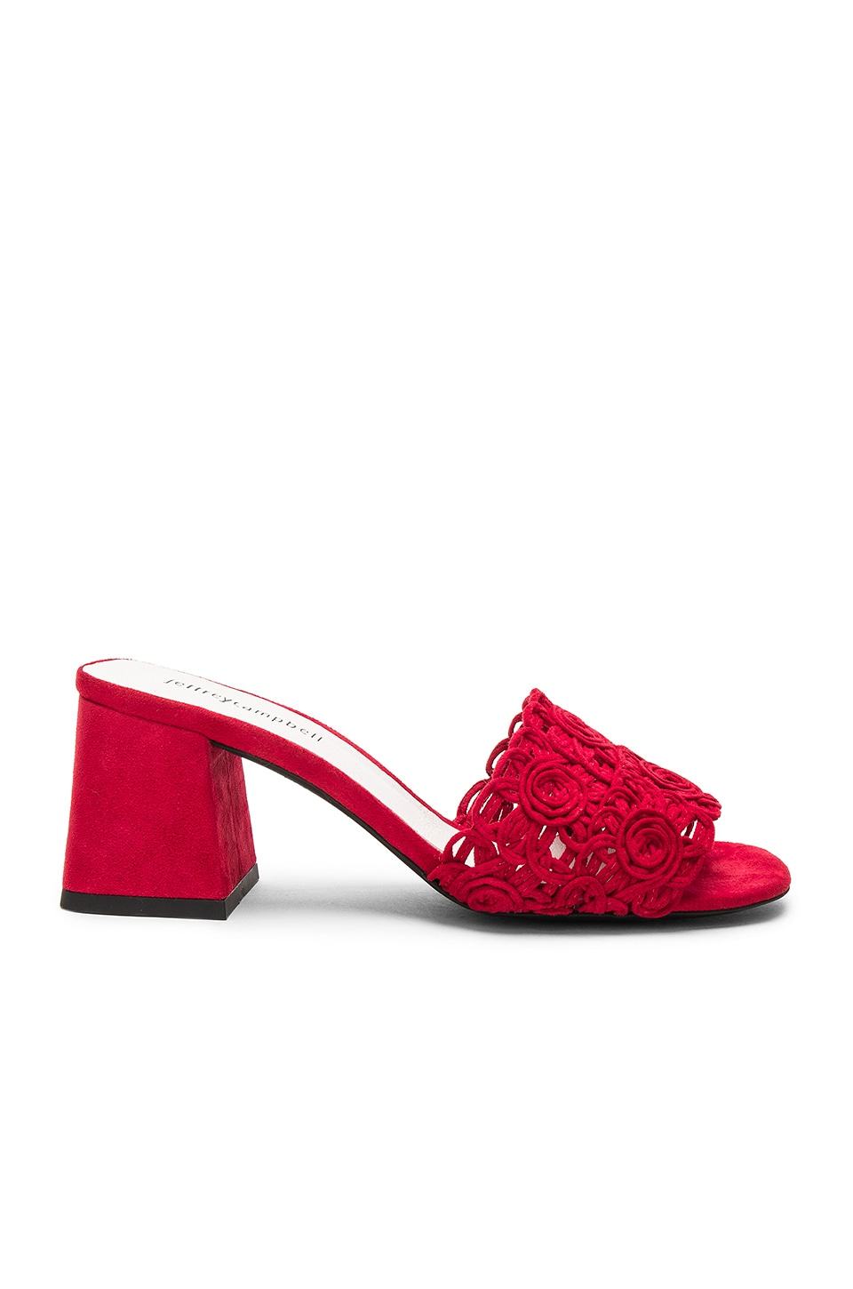 Jeffrey Campbell Tiza Heel in Red Suede