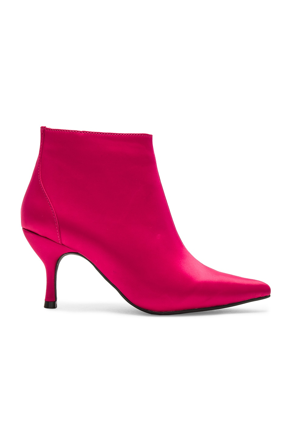 Jeffrey Campbell Twirl 2 Booties in Fuchsia Satin