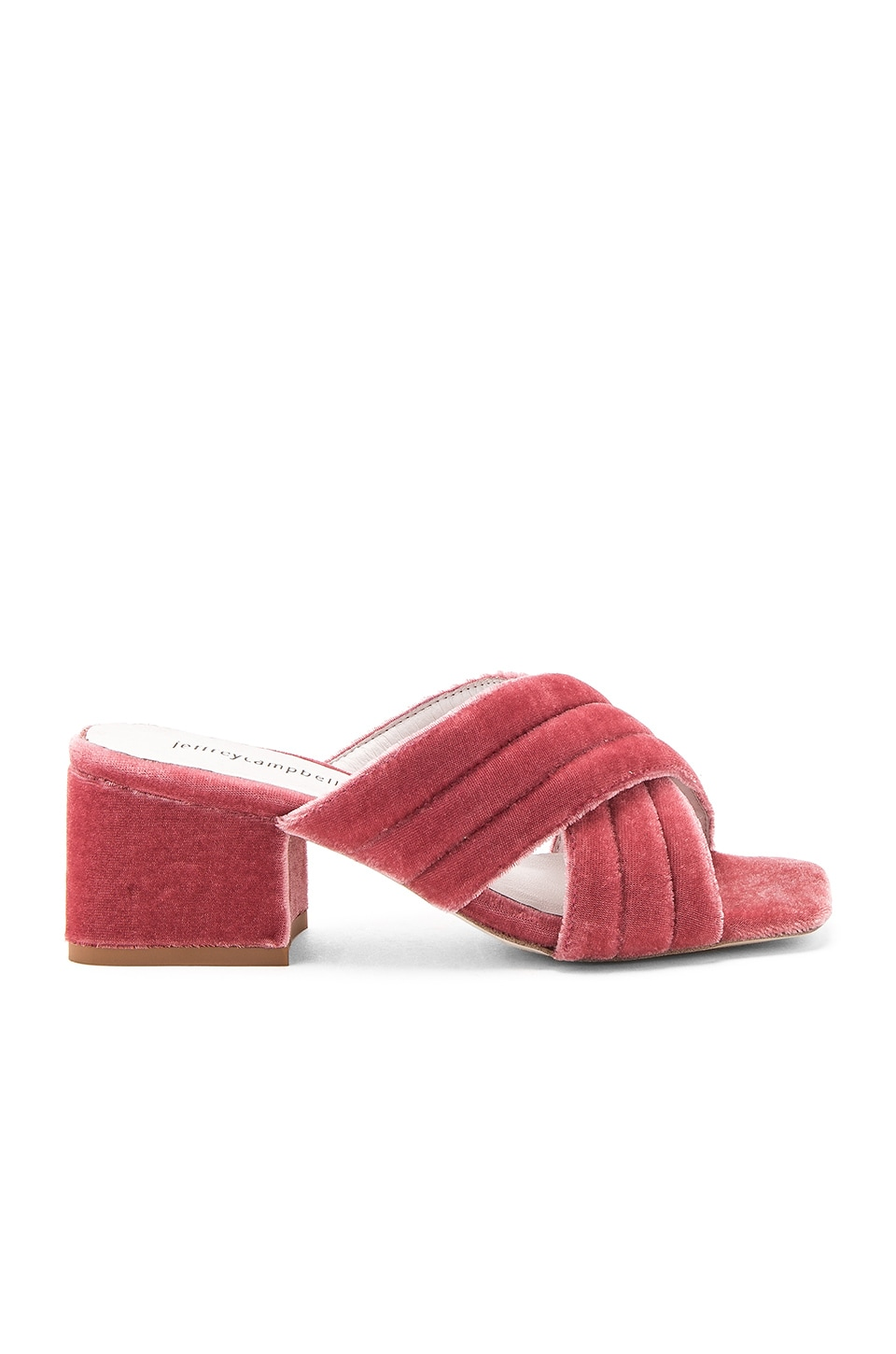 Jeffrey Campbell Berdine Heels in Rose Velvet