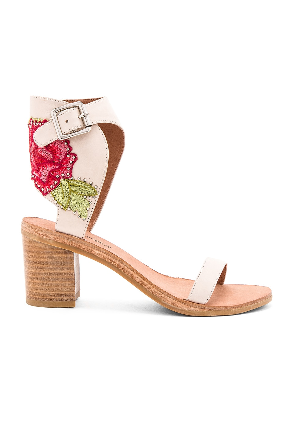 Jeffrey Campbell Iowa REV Sandals in Natural Red Combo