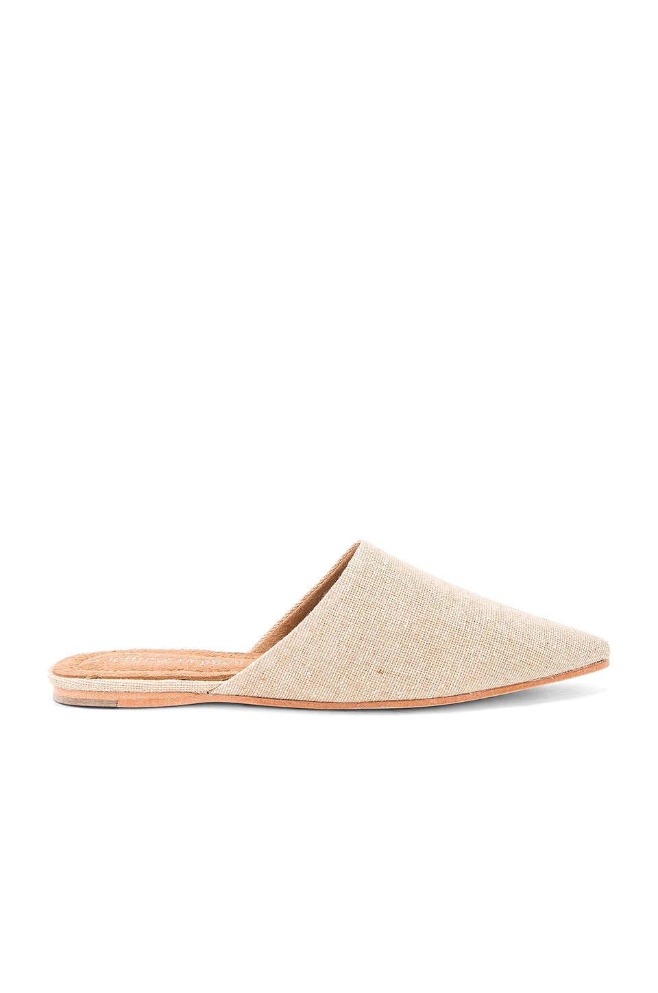 Jeffrey Campbell Doshi Slides in Natural Linen