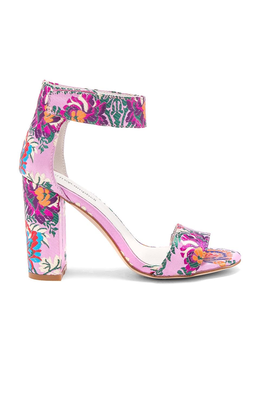 Jeffrey Campbell Lindsay Heel in Pink Multi Floral Brocade
