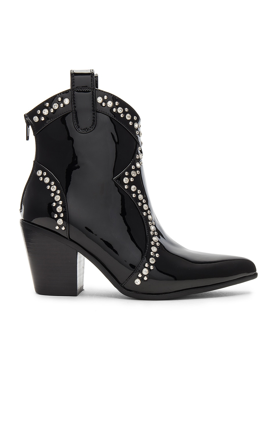 Jeffrey Campbell Nightwing Bootie in Black Patent & Silver