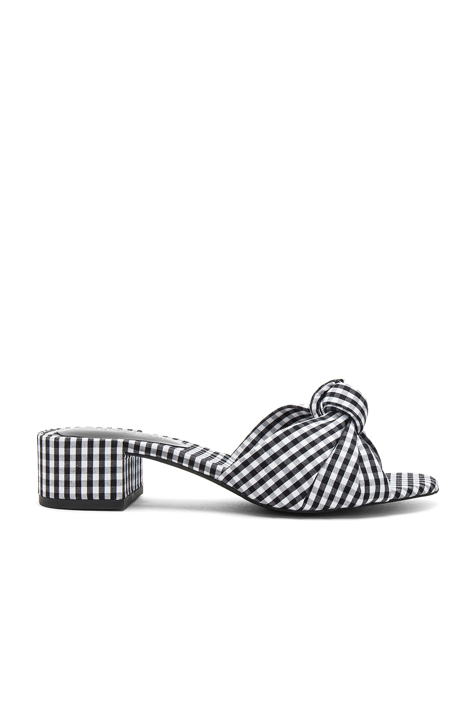 Jeffrey Campbell Beaton Mule in Black & White Gingham