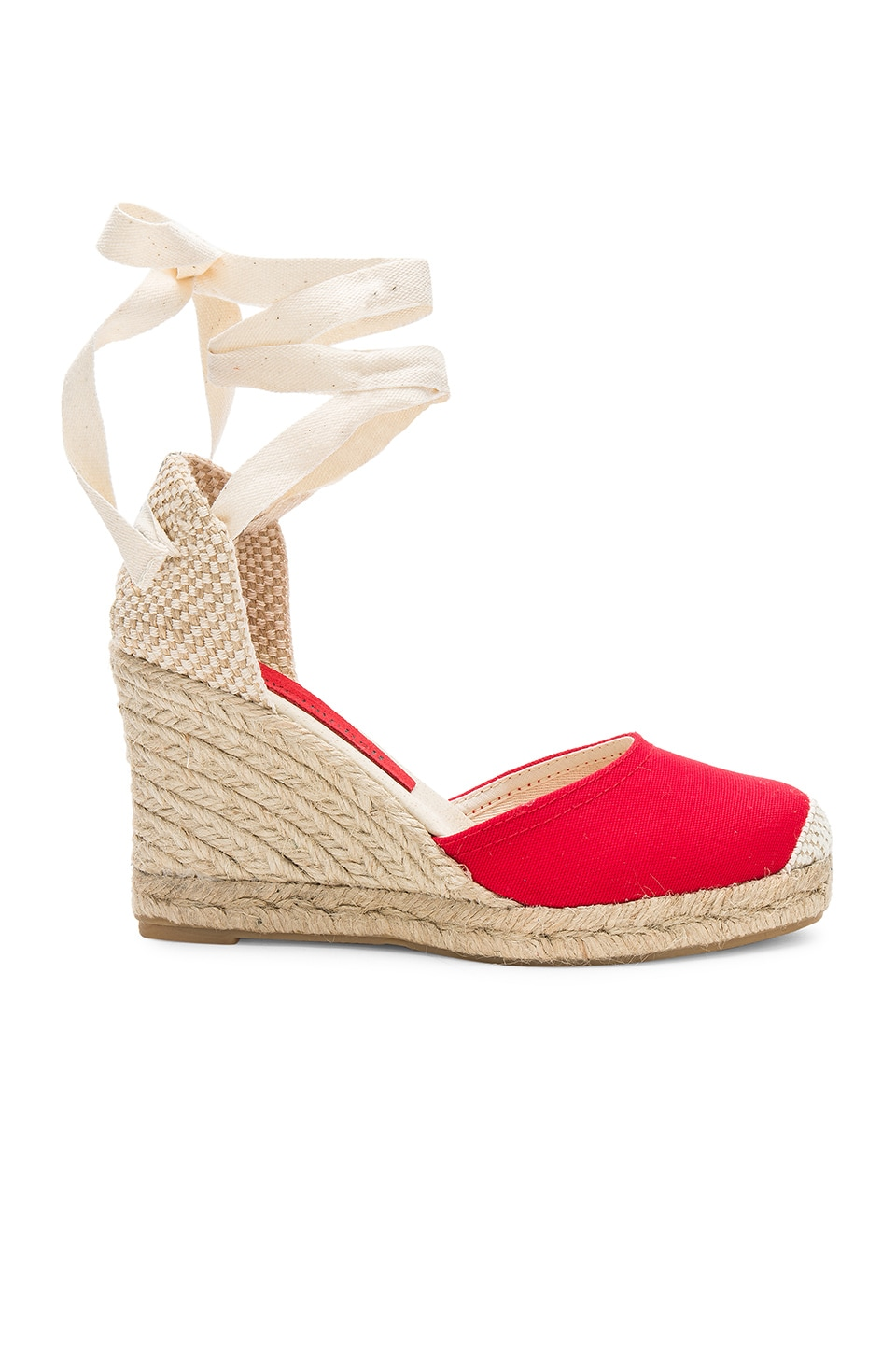 Jeffrey Campbell Adorra Sandal in Red Canvas
