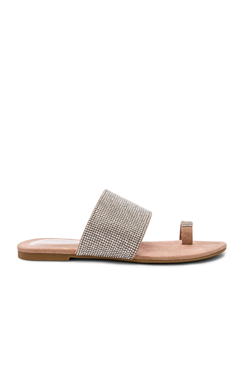 Jeffrey Campbell Jema Sandal in Nude Suede & Champagne