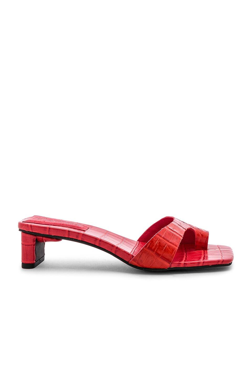 Jeffrey Campbell Teclado Heel in Red Croco
