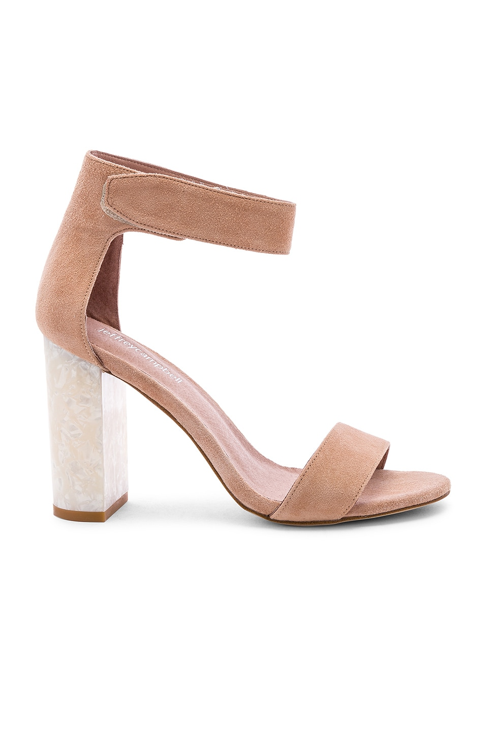 Jeffrey Campbell Lindsay Heel in Blush Suede