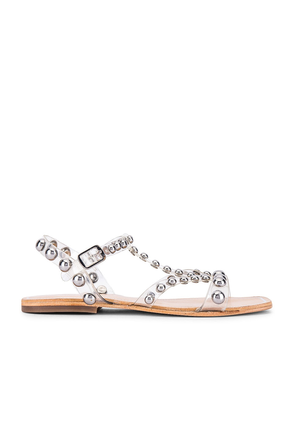 Jeffrey Campbell Amaryl Sandal in Clear & Silver