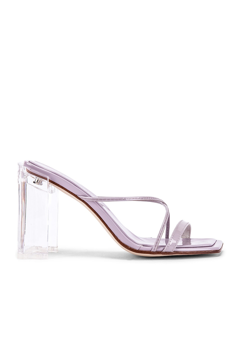 Jeffrey Campbell Mural Hi Heel in Lilac Patent & Clear
