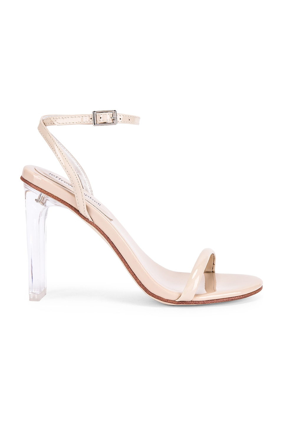 Jeffrey Campbell Vaccine Sandal in Nude Patent & Clear