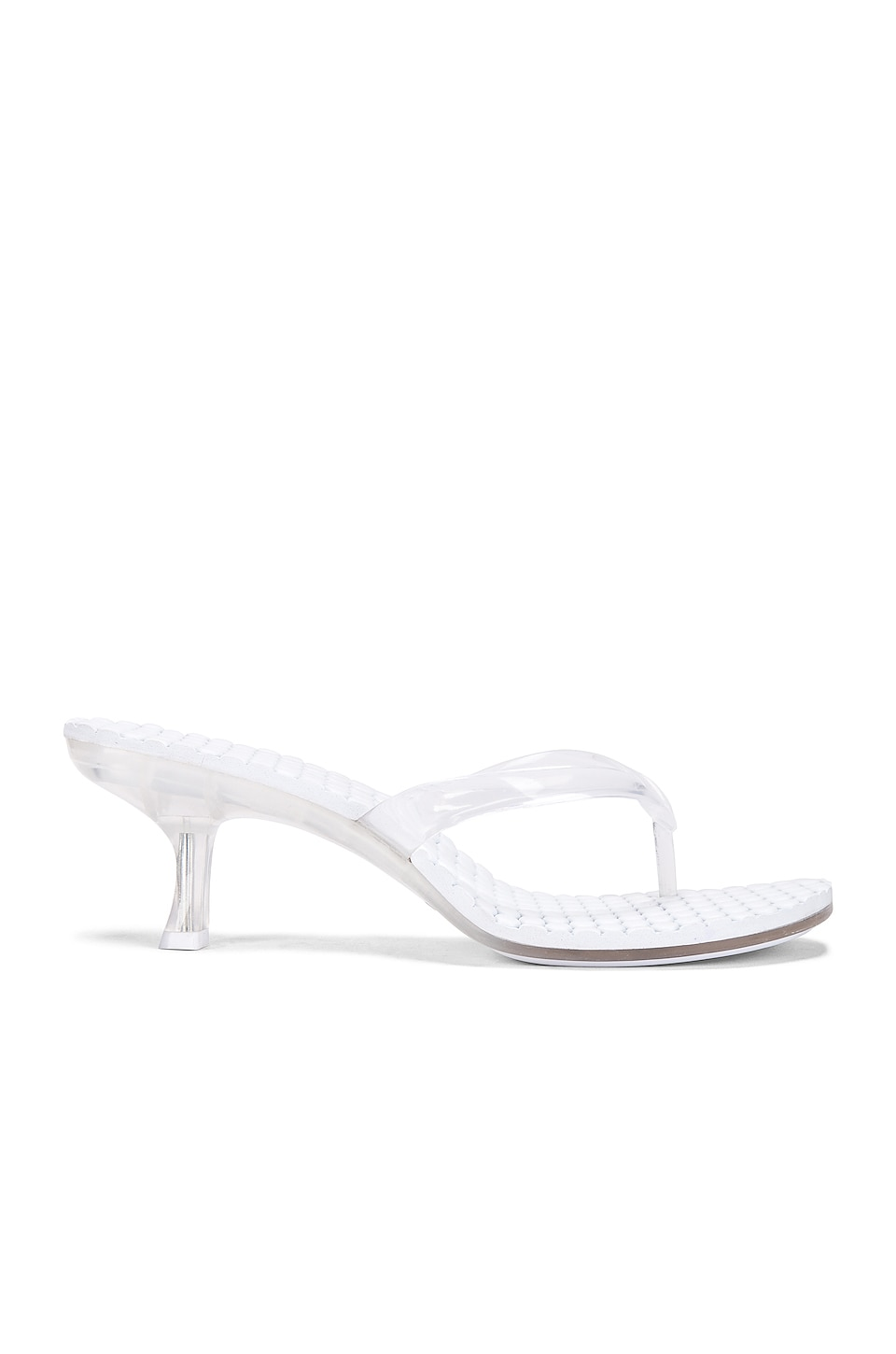 Jeffrey Campbell Mini Heel Thong in Clear