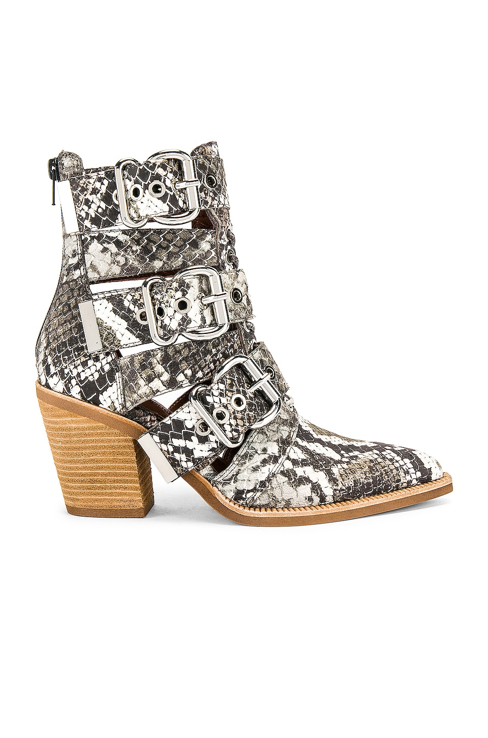Jeffrey Campbell Caceres Bootie in Brown & Grey Snake