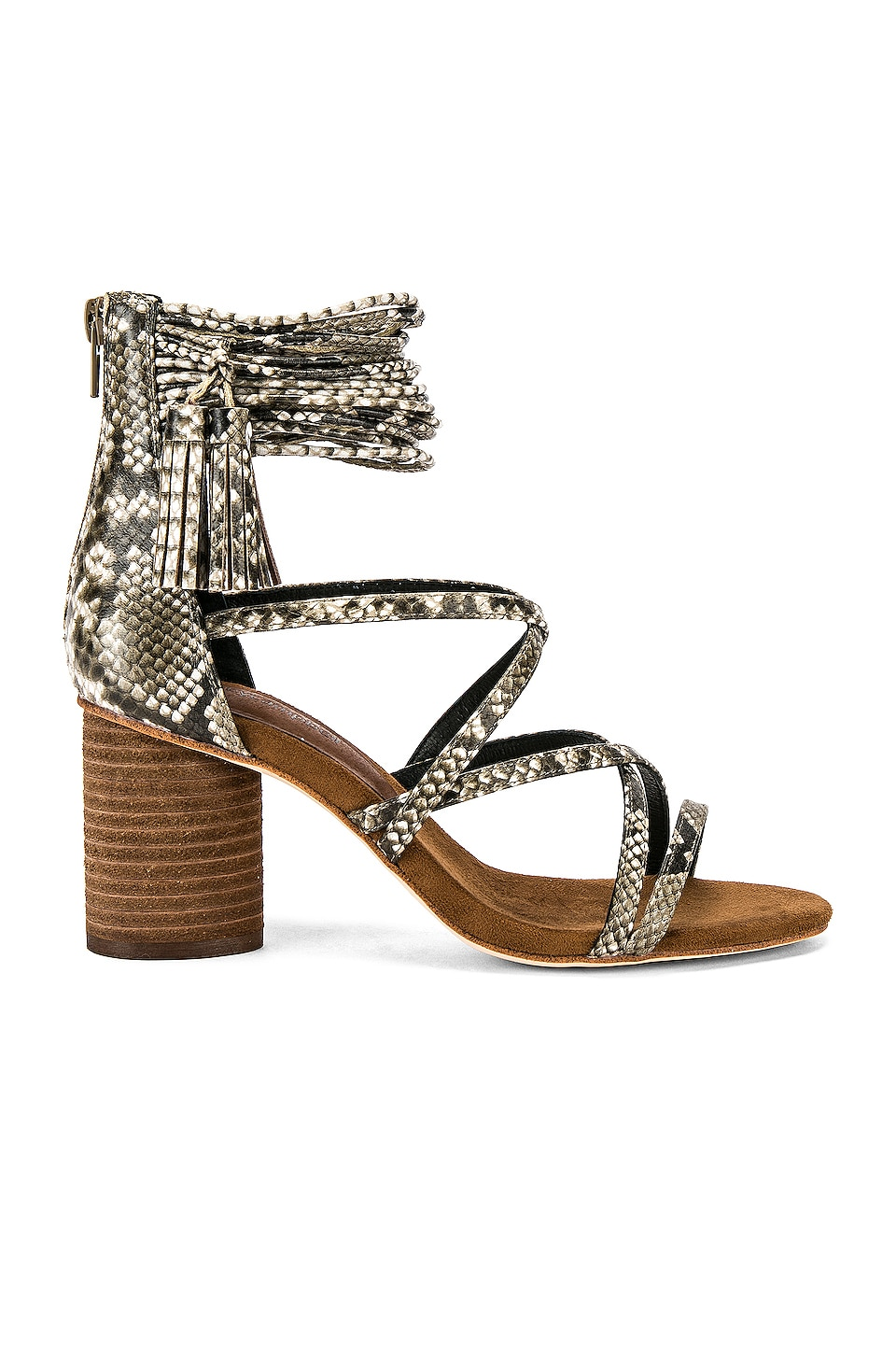 Jeffrey Campbell Despina Sandal in Natural Python Combo