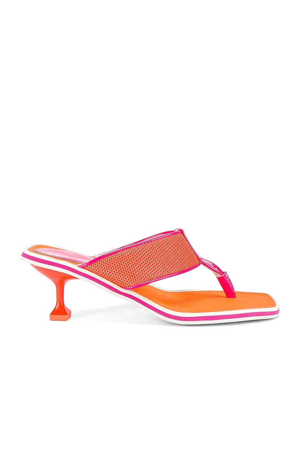 Jeffrey Campbell Goalie Sandal in Fuchsia & Orange